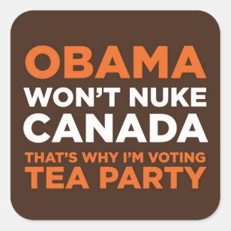 Nuke Canada Square Sticker