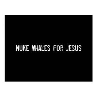 Nuke Whales for Jesus Postcard