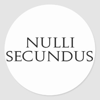 Nulli Secundus Classic Round Sticker