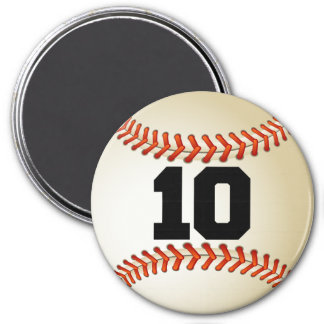Number 10 Baseball Magnet
