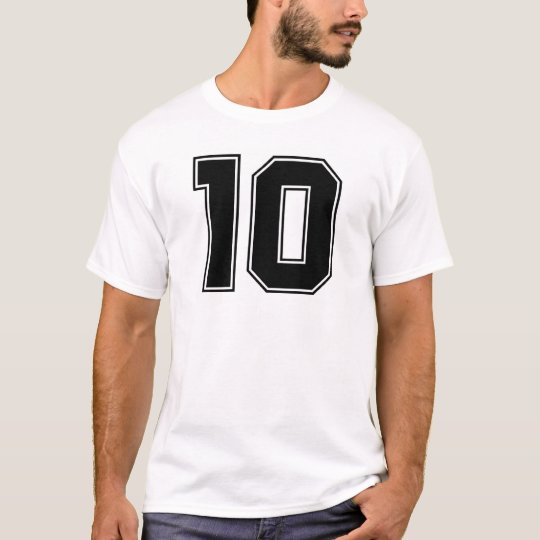 Number 10 front and backside print T-Shirt