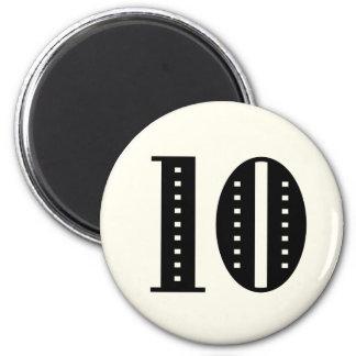 Number 10 Round Magnet