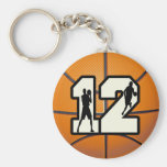 Number 12 Basketball and Players Key Chains