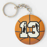 Number 13 Basketball and Players Key Chains