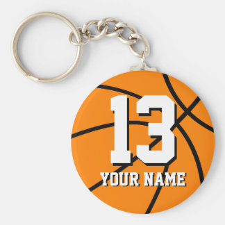 Number 13 basketball keychain | Personalizable