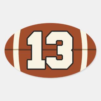 Number 13 Football Sticker