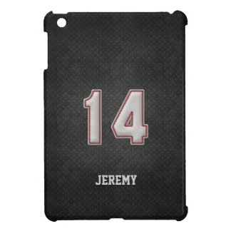 Number 14 Baseball Stitches with Black Metal Look Cover For The iPad Mini