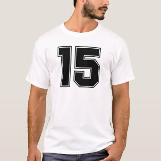 Number 15 front and backside print T-Shirt