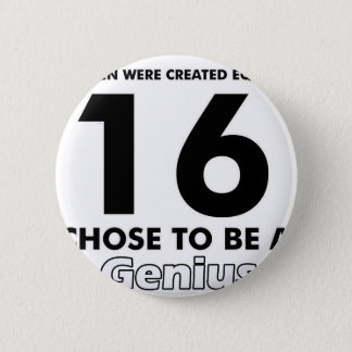 Number 16 designs 2 inch round button