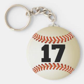 Number 17 Baseball Keychain