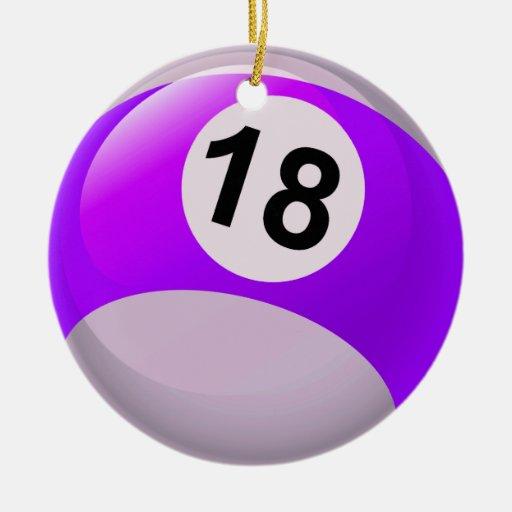 Number 18 Purple Purple stripe number 18