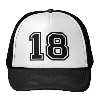 Number 18 Classic Trucker Hat