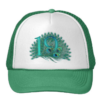 Number 19 / age / years / 19th birthday template trucker hat