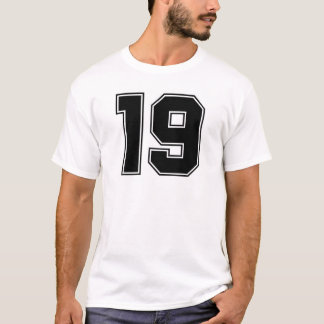 Number 19 front and backside print T-Shirt