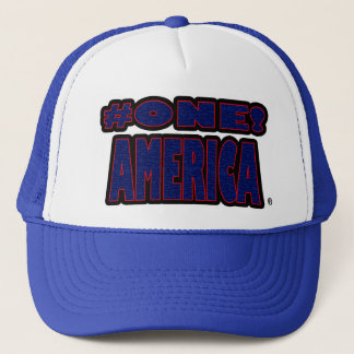 Number-1 America Blue Red Worded Trucker Hat
