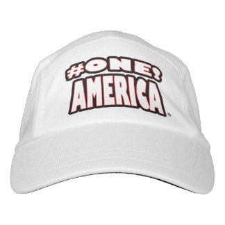 Number-1 America White Worded Performance Hat