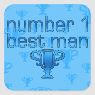 Number 1 Best Man Square Sticker