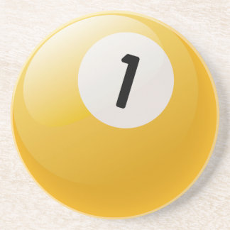 Number 1 Billiards Ball Coaster