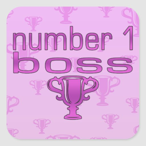 Number 1 Boss in Pink Sticker
