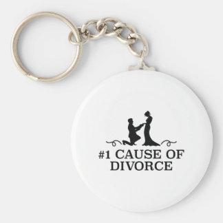 Number 1 Cause Of Divorce Basic Round Button Keychain