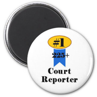 Number 1 Court Reporter 2 Inch Round Magnet