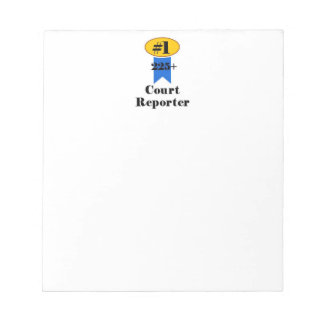 Number 1 Court Reporter Notepad
