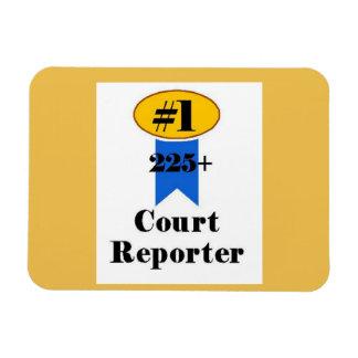 Number 1 Court Reporter Rectangular Photo Magnet