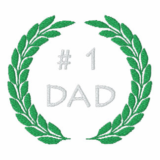 Number 1 Dad Embroidered T-Shirt