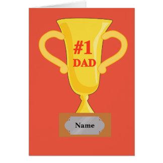 Number 1 Dad Gold Trophy Card