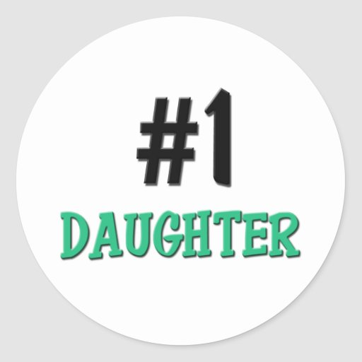 Number 1 Daughter Stickers