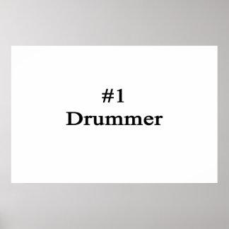 Number 1 Drummer Poster