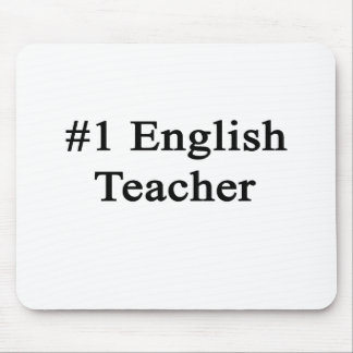 Number 1 English Teacher Mouse Pad