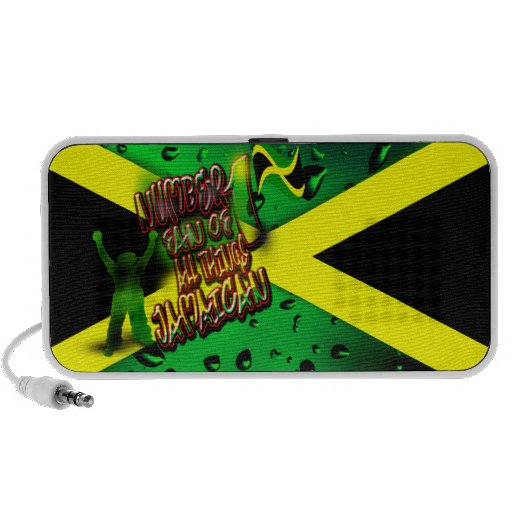 Number 1 Fan of All Things Jamaican Doodle Travelling Speakers