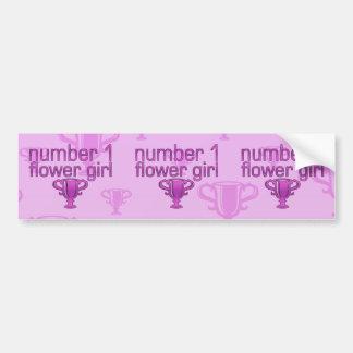 Number 1 Flower Girl Bumper Sticker