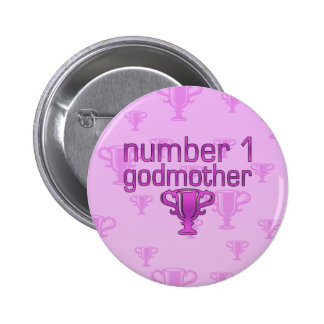 Number 1 Godmother 2 Inch Round Button