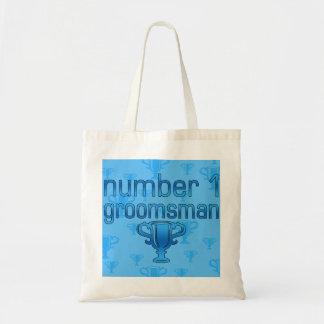 Number 1 Groomsman Canvas Bags