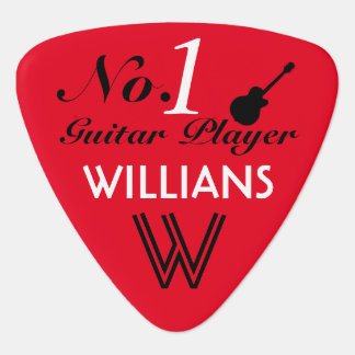 number 1 guitar player personalized pick