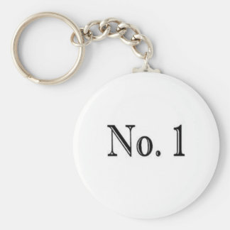 Number 1 keychain