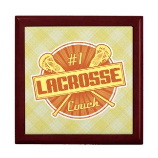 Number 1 Lacrosse Coach Trinket Box