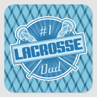 Number 1 Lacrosse Dad Stickers