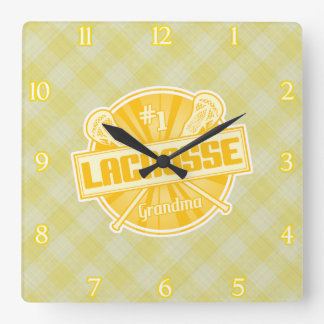 Number 1 Lacrosse Grandma Wall Clock