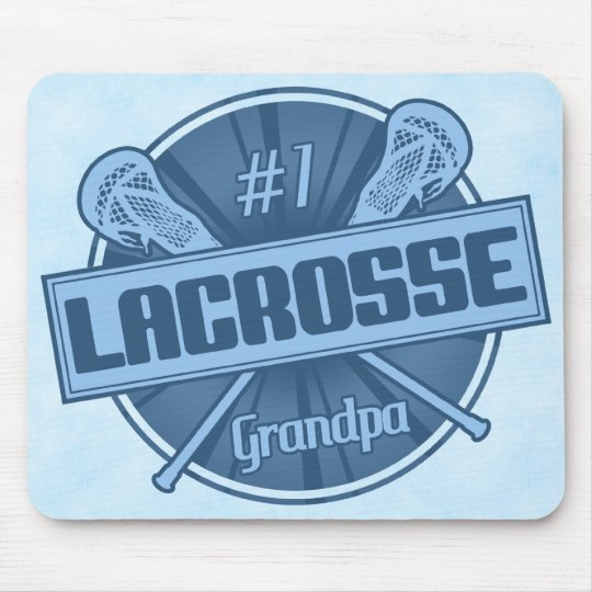 Number 1 Lacrosse Grandpa Mousemat Mouse Pad