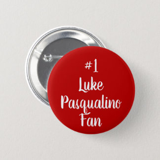 Number 1 Luke Pasqualino Fan 2 Inch Round Button