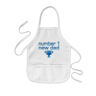 Number 1 New Dad Kids Apron
