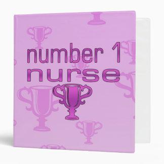 Number 1 Nurse in Pink Binders