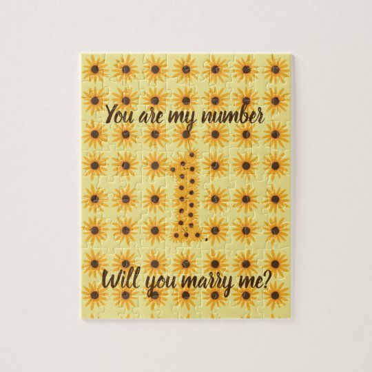 Number 1 One Sunflower Marriage Proposal Puzzles