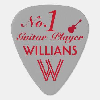 number 1 red guitar player custom guitar pick