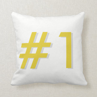 Number 1 throw pillow