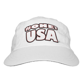 Number-1 USA White Worded Performance Hat