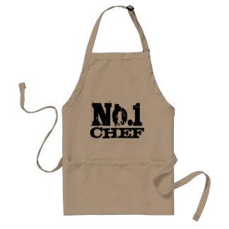 Number 1 - Worlds best chef aprons for men | Beige